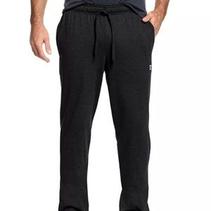 Champion Open Bottom Jersey Pants Mens black small